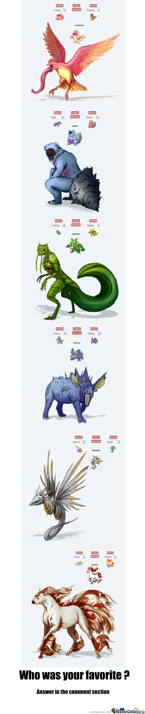 Creepy Pokemon Combinations