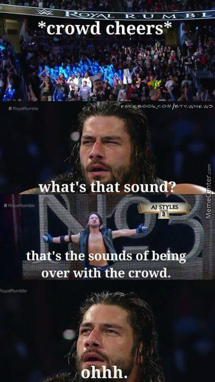 Crowd Popped When Reigns Got Eliminated. Not Good For Your Top Guy