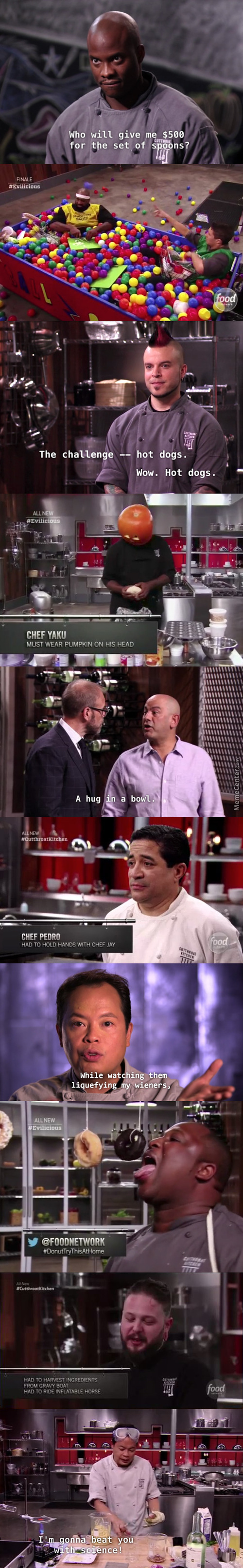 Cutthroat Kitchen Is More Or Less The Mario Party Of Competitive Cooking Shows.