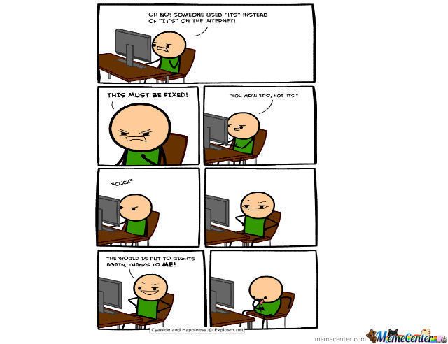 Cyanide And Happiness: Grammar Nazi Masturbation