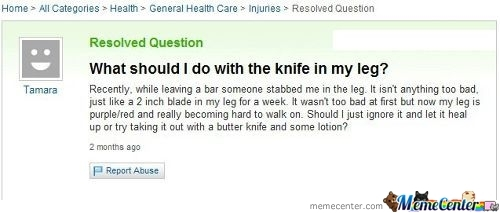 Dafuq Yahoo Answers