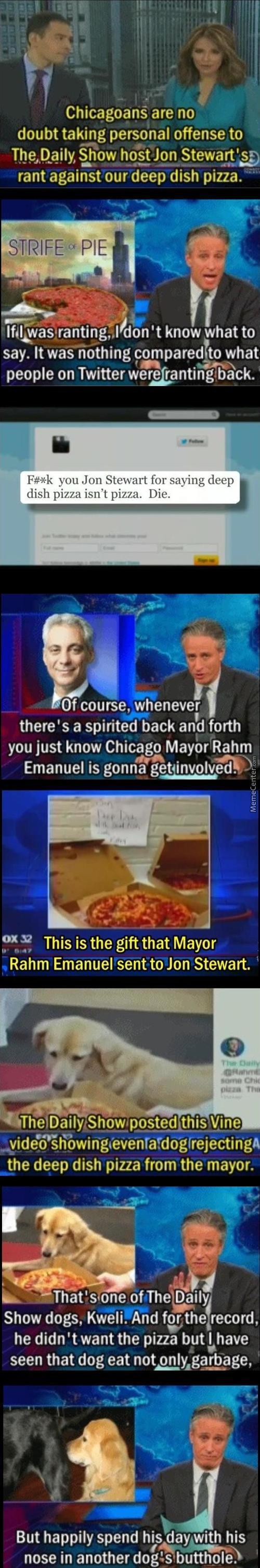 Daily Show: Deep Dish Pizza