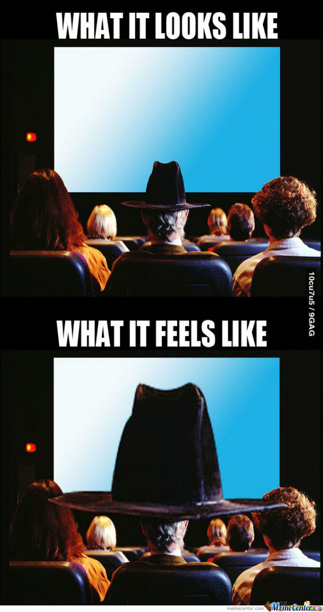 Damn Hats At Cinema