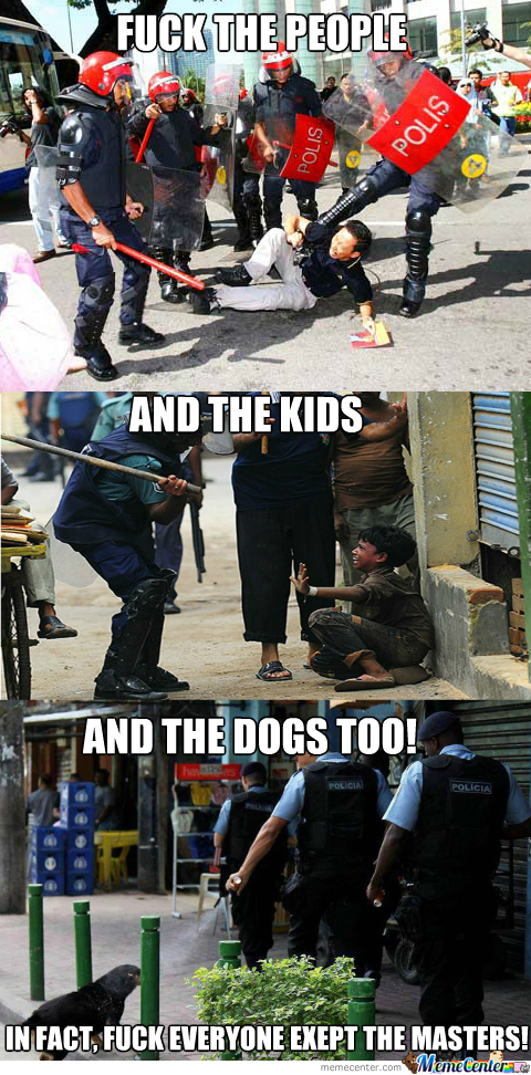 Damn Police Shooting Dogs And Beating Up Kids!
