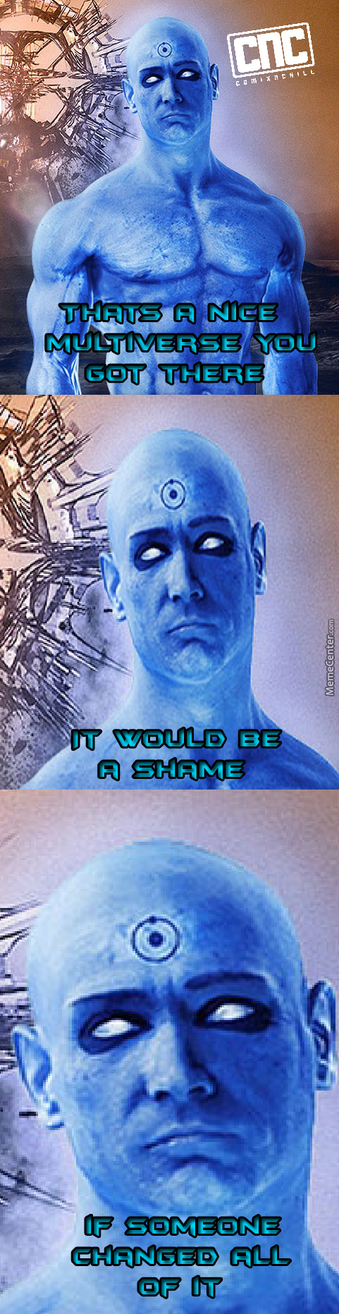 Damn You And Your Blue D*ck, Dr Manhattan
