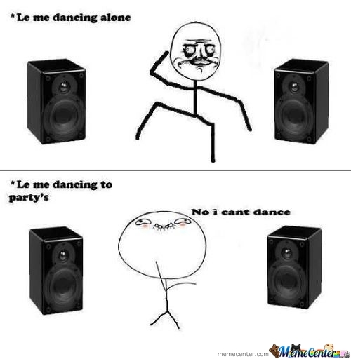 Dancing Alone Vs At Parties