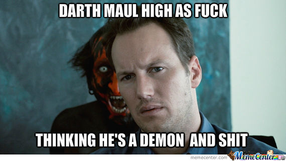 Darth Maul High As Fuck