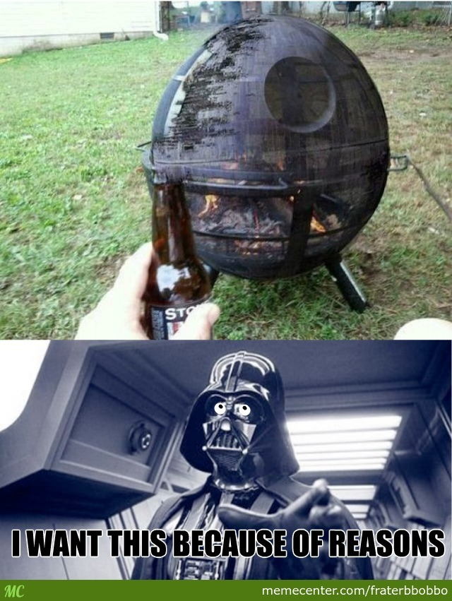 Darth Vader Is Going To Bbq