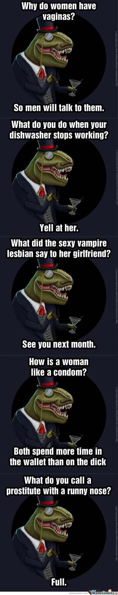 Dastardly Dinosir On Women