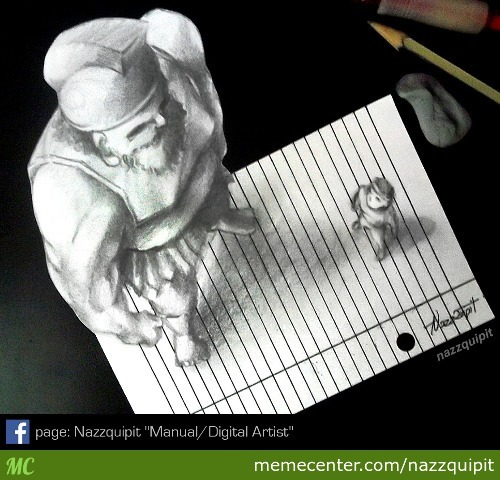 David Vs Goliath_3D Draw