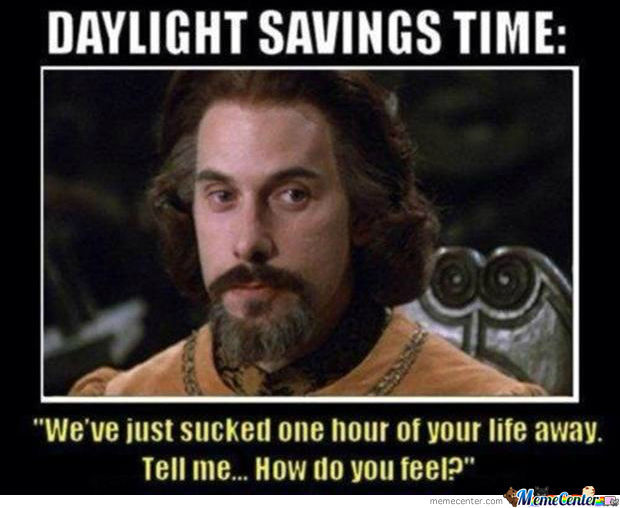 Daylight Savings Time Sucks