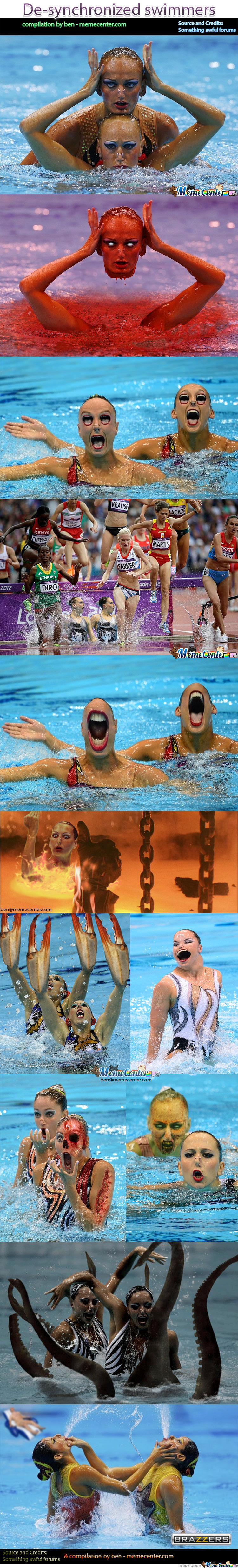 De-Synchronized Swimmers
