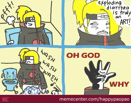 Deidara Pooping Time :d