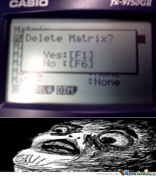 Delete Matrix?