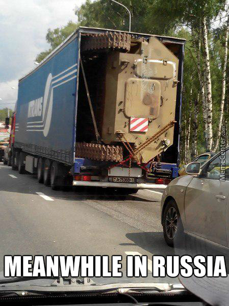 Delivering Tanks In Russia