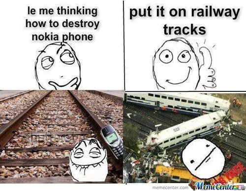Destroying Nokia Phone