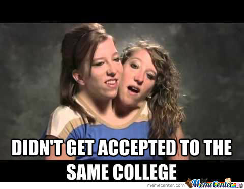 Didn't Get Accepted To The Same College