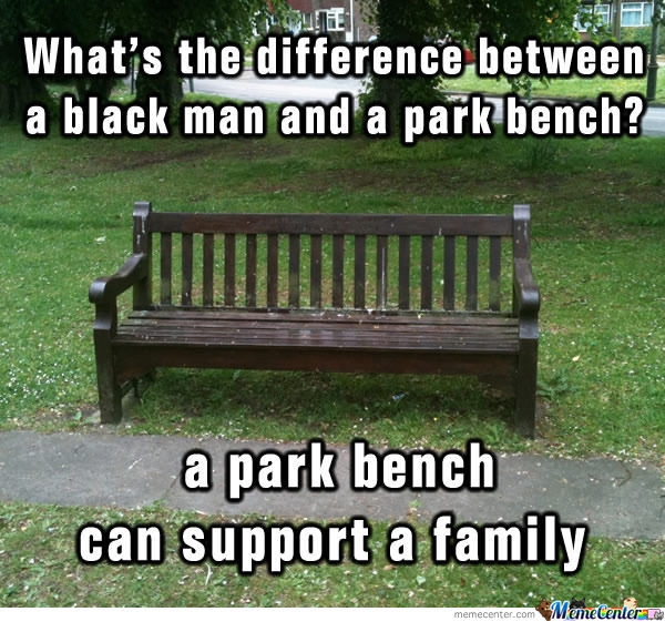 Difference Between A Black Man And A Park Bench