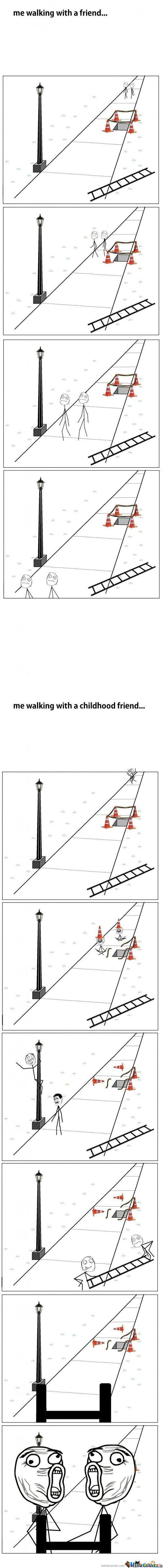 Difference Between Friends And Friends From Childhood !!