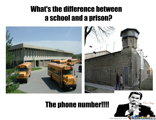 Difference School And Prison