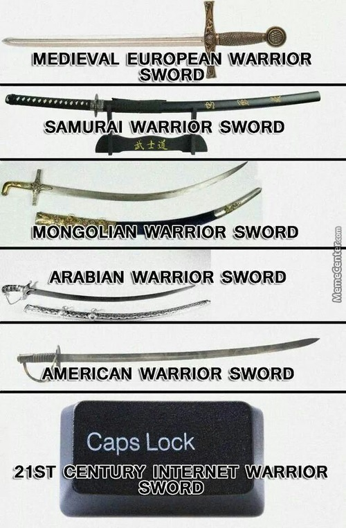 Different Weapons Through The Ages