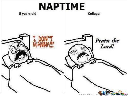 Diffrence Between Naptime And Collage