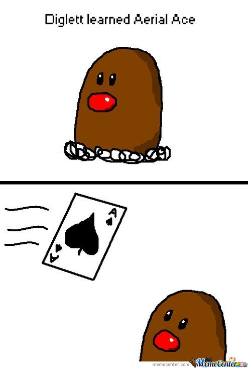 Diglett Learned Aerial Ace
