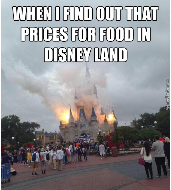 Funny Disneyland Meme : Disneyland happiest place in the world if you have money