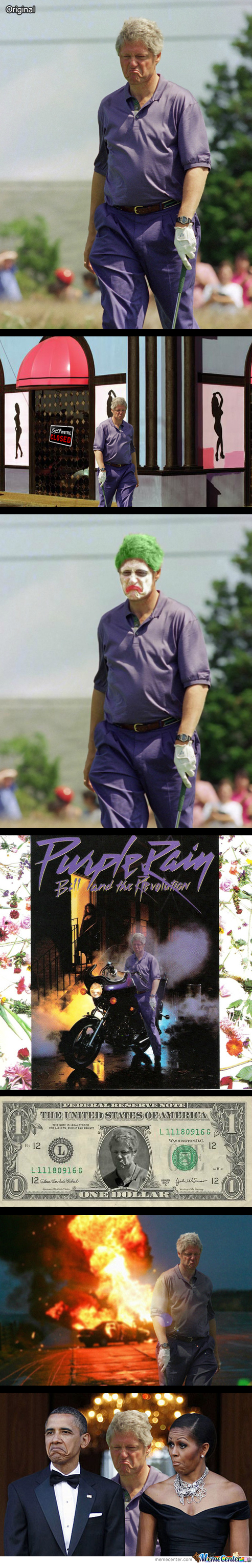Displeased Purple Bill Clinton