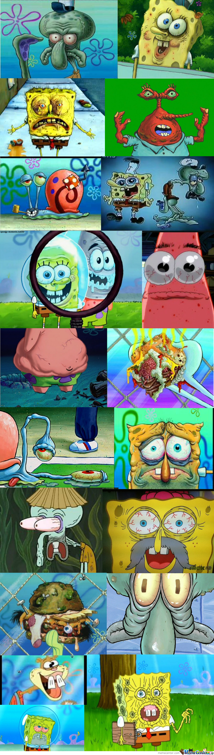 Disturbing Closeups From Spongebob