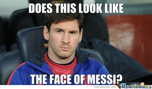 Does This Look Like The Face Of Messi?