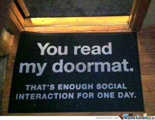 Door Mat Says It All