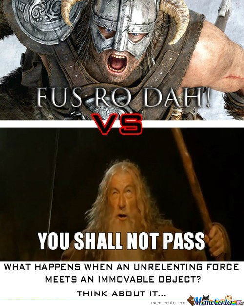 Dovakiin Vs Gandalf The Grey