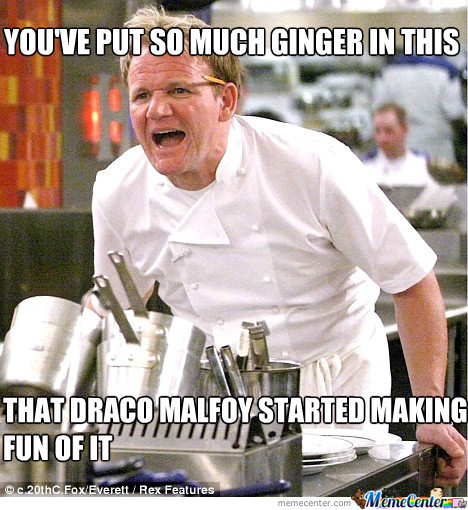 Draco Malfoy Making Fun Of Gingers