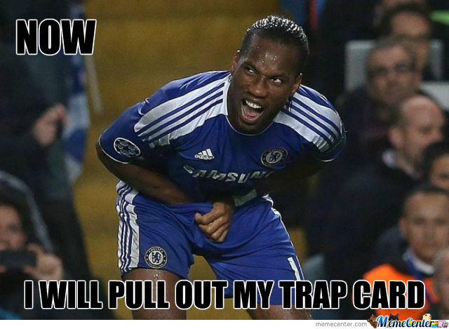 Drogba Looking For His Trap Card