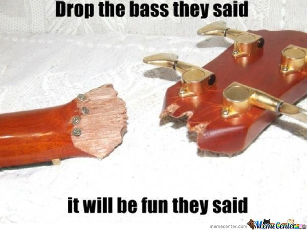 Drop The Bass They Said....