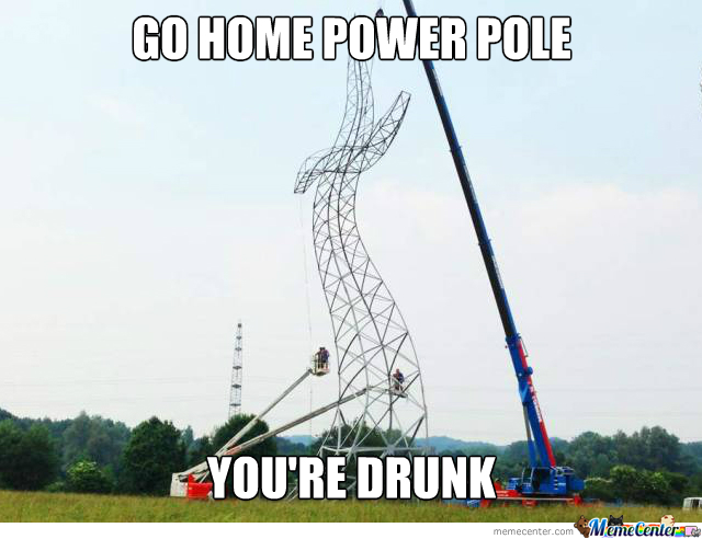 Drunk Power Pole