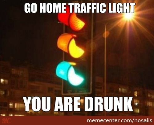 Drunk Traffic Light