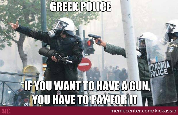 During The December Revolt: After The Assassination Of Grigoropoulos By A Police Officer Which Sparked Riots Across The Country