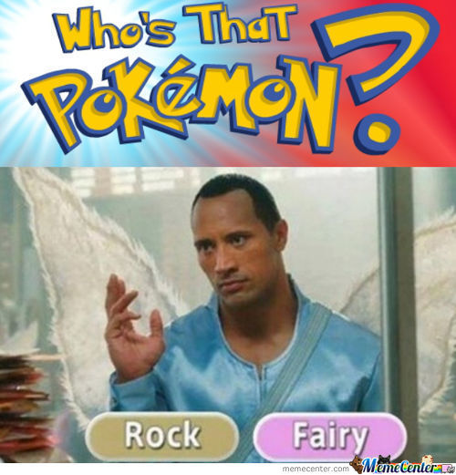 Dwayne Johnson: Legendary Rock/fairy Pokémon