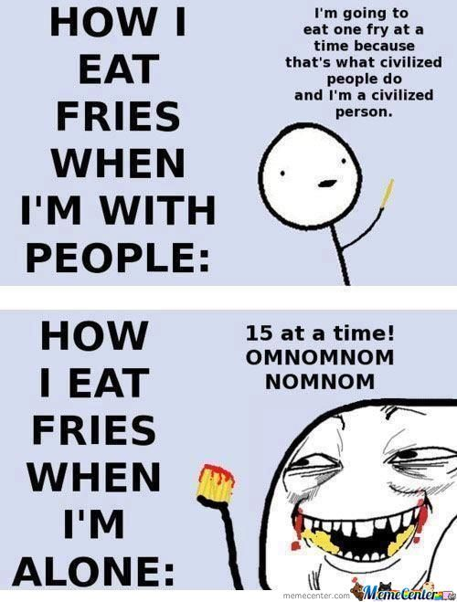 Eaating Fries!