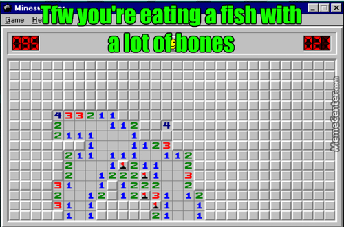 Eating Fish Is Literally Playing Minesweeper