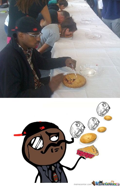 Eating Pie Like A Sir