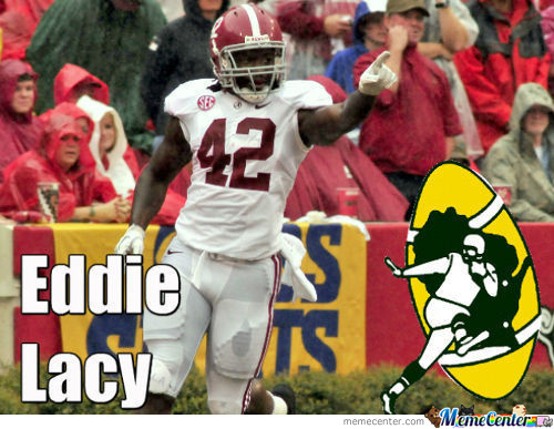Eddie Lacy Is A Packer!