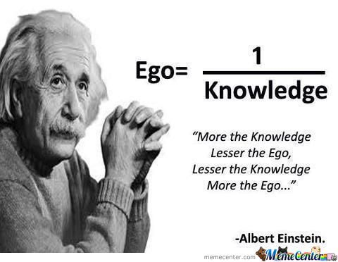 Ego And Knowledge Proportion