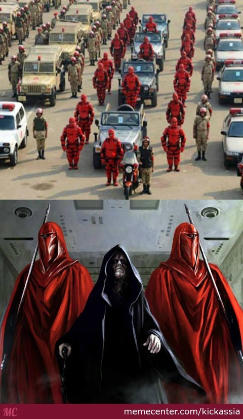 Egypt's New Red Suit Forces Reminds Me Of Star Wars