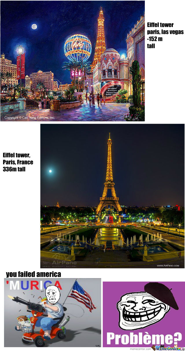 Eiffel Towers, Las Vegas Vs Paris