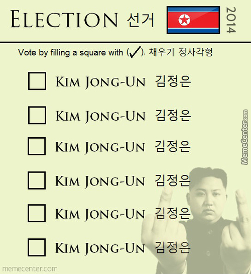 Elections In North Korea.