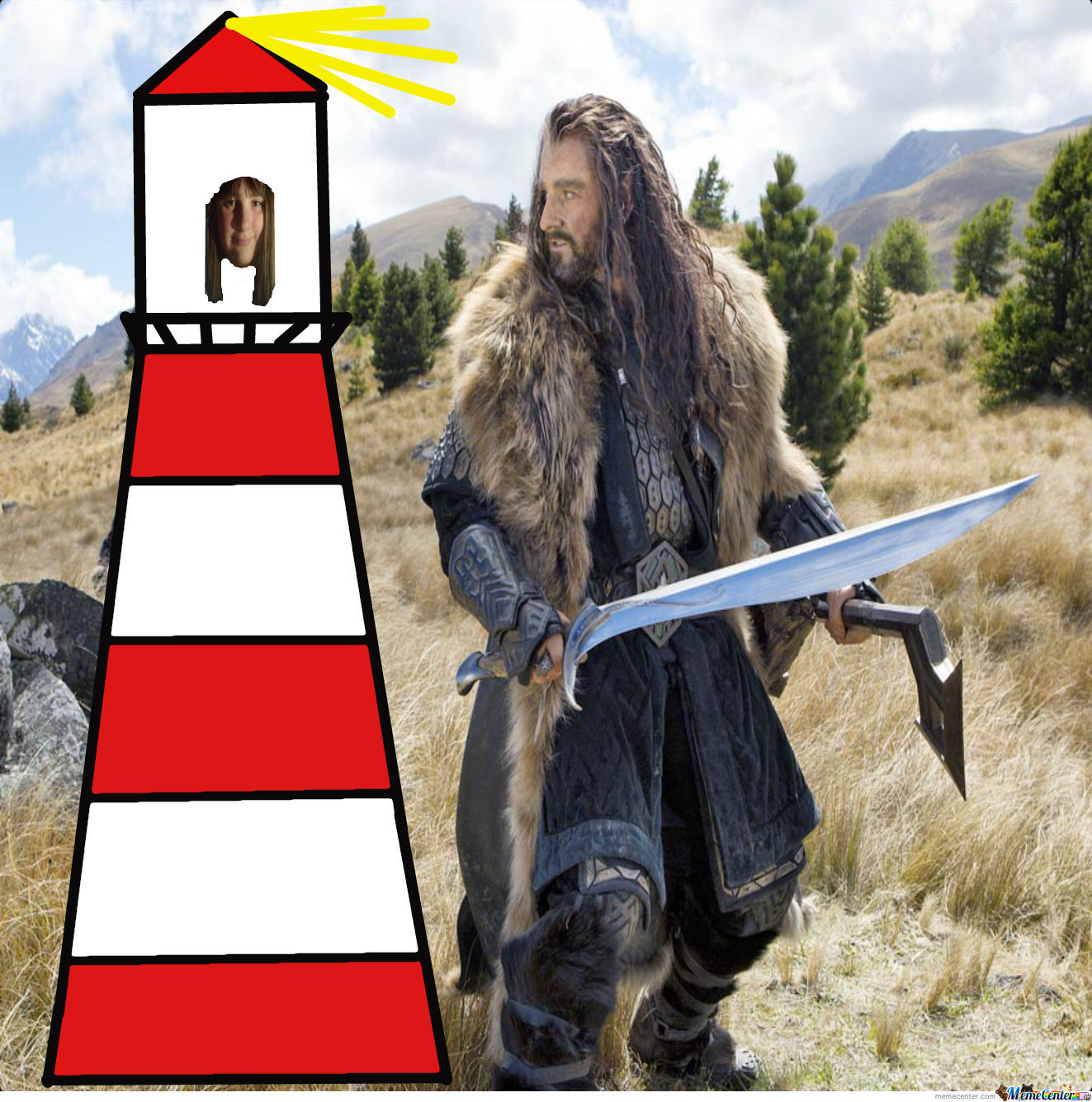 Ellie The Lighthouse Chillin With Thorin