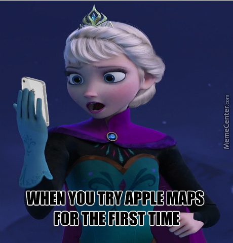 Elsa Trying Apple Maps